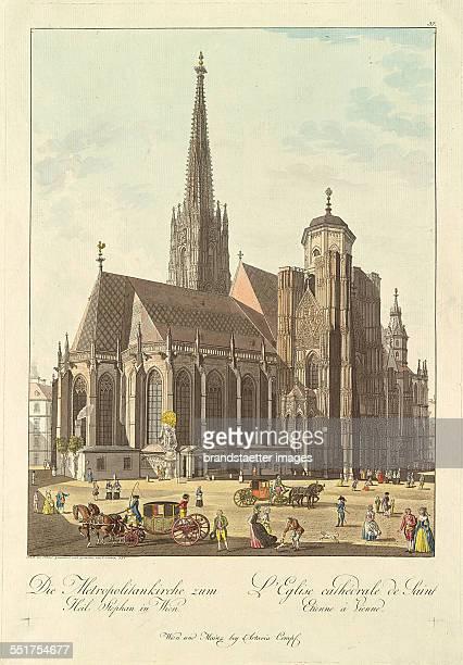 'Die Metropolitankirche zum Heil Stephan in Wien' 1792 Engraving and etching by Carl Schütz 1st etat of six