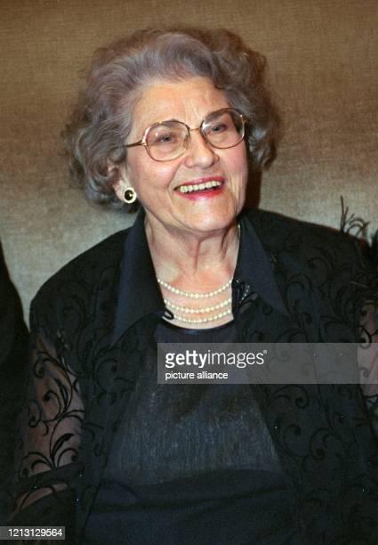 Die Mutter von TVStar Thomas Gottschalk Rutila Gottschalk aufgenommen am in München