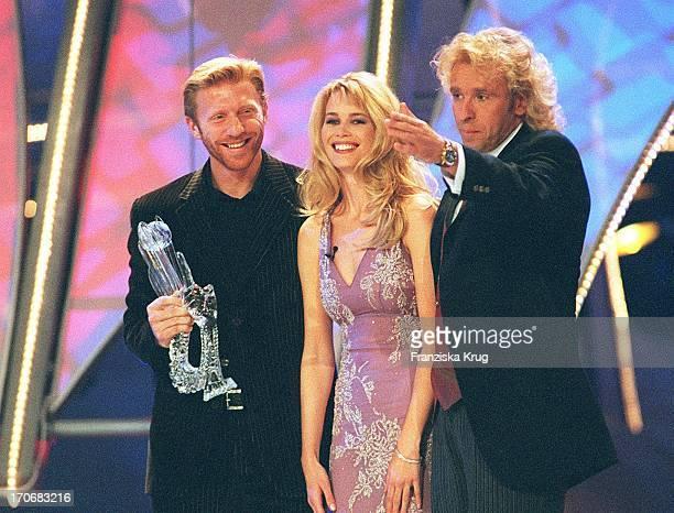 Die Nacht Der Stars Atp Gala In Hannover 161197 Boris Becker Claudia Schiffer Thomas Gottschalk