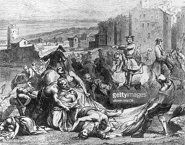 Die Pest in Marseille 1720Nach einem Stich von Thomassin