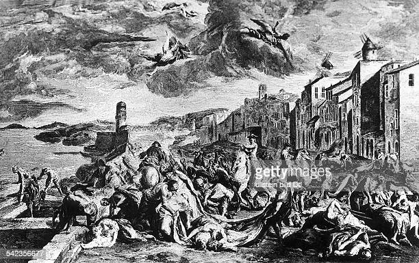 - Die Pest von Marseilles, 1720 Stich von Thomassin nach einem Gemälde von J.-F. De Troy