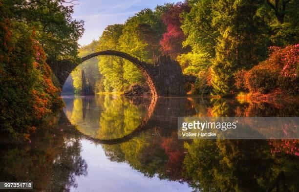 Die Rakotzbruck bridge in Gablenz, Germany.