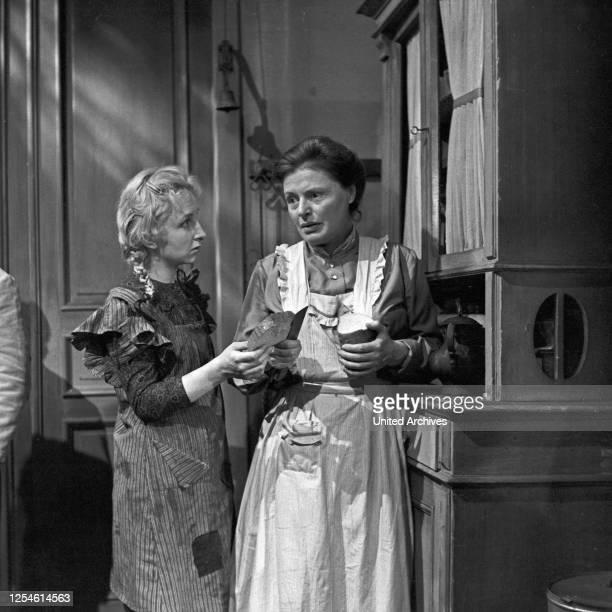 Die Ratten, Fernsehspiel, Deutschland 1959, Regie: John Olden, Darsteller: Gisela von Collande, Edith Hancke.