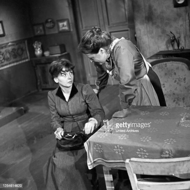 Die Ratten, Fernsehspiel, Deutschland 1959, Regie: John Olden, Darsteller: Ingrid Andree, Gisela von Collande.