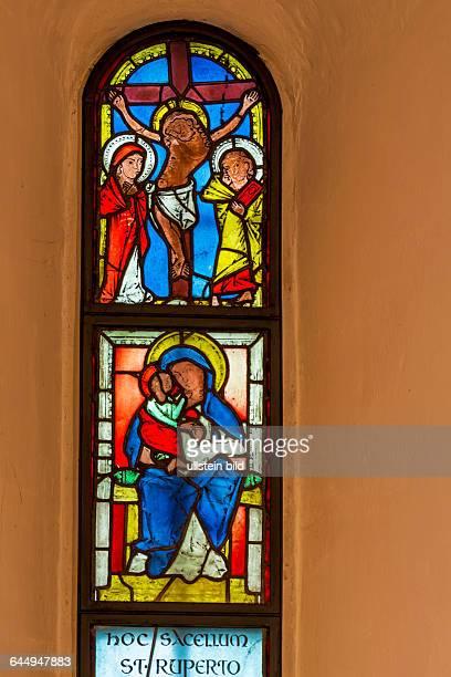 Die Ruprechtskirche in Wien ist die älteste Kirche Wiens Das ist das älteste Glasfenster in Wien