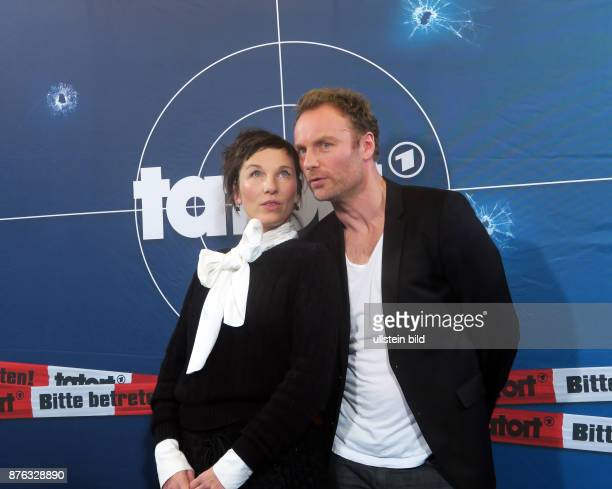 Die Schauspiekler Meret Becker, Mark Waschke aufgenommen bei der Preview vom Tatort Dunkelfeld im Kino Babylon in Berlin Mitte. Ausstrahlung ist am...