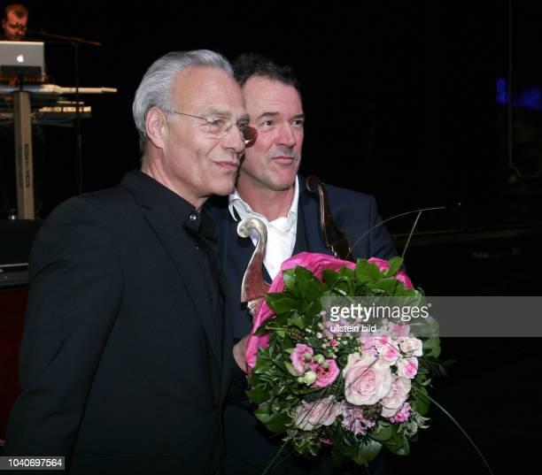 Die Schauspieler Klaus J. Behrendt und Sebastian Koch vl aufgenommen bei der Notte delle Stelle, der italienischen Filmgala Nacht der Sterne im Hotel...