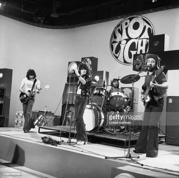 Die schottische Rockband NAZARETH, 70er Jahre. Musik, Band, Rock, 70er.