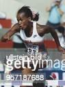 Die Siebenkämpferin Jackie JoynerKersee während der LeichtathletikWeltmeisterschaft 1993 in Stuttgart beim Hürdensprung