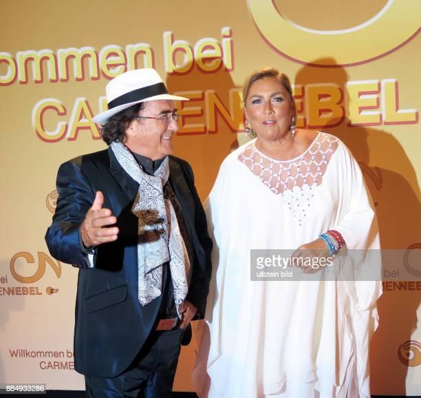 Die Sänger Albano Carrisi Al Bano Romina Power aufgenommen bei der TV Show Willkommen bei Carmen_Nebel im Velodrom in Berlin Prenzlauer Berg