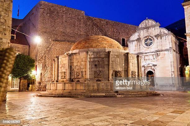 Die Stadt Dubrovnik in Kroatien Unesco Weltkulturerbe OnofrioBrunnen