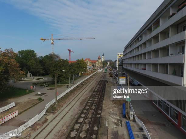 Die Straßenbaustelle Baustelle Kavalierstraße in Dessau führt bei den ansässigen Händlern zu hohen Umsatzverlusten foto Kavalierstraße Stadtpark und...