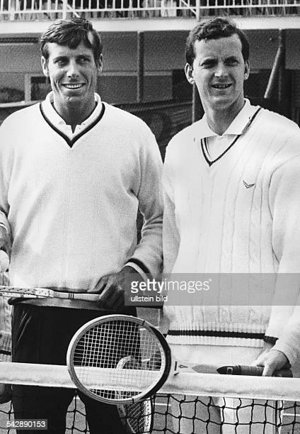 Die Tennisspieler Christian Kuhnke und Wilhelm Bungert spielten für das deutsche DaviscupTeam im Einzel und auch Doppel