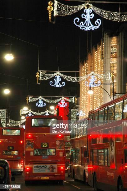 Die weihnachtlich geschmückte Innenstadt von London zu Weihnachten