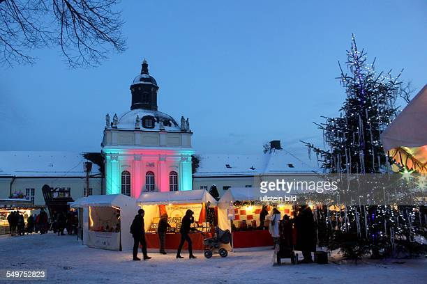 Die Weihnachtsinsel - Weihnachtsmarkt auf der Schlossinsel, Schlossplatz Köpenick, Abendstimmung