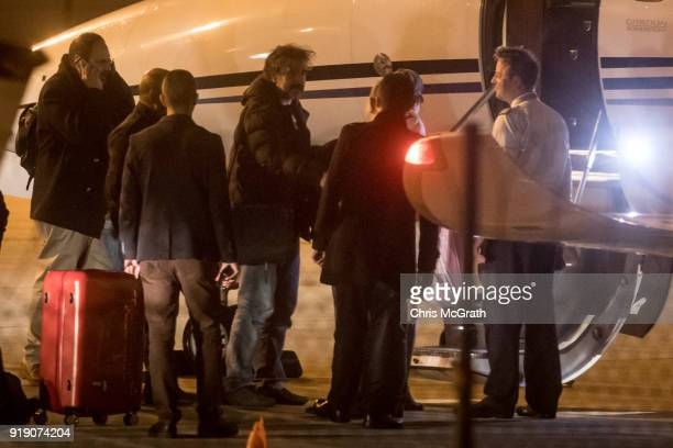 Die Welt journalist Deniz Yucel boards a private jet to leave Turkey after being released from Silivri prison by Turkish officials on February 16...