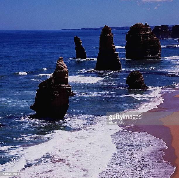 Die `ZwölfApostel' Klippen im PortCampbell Nationalpark in Victoria 1992