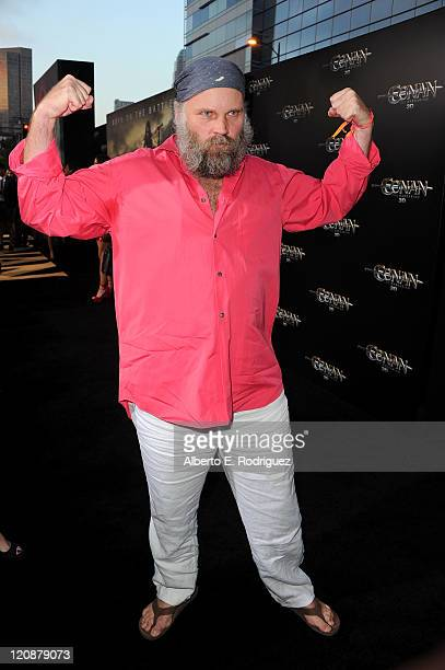 "Diector Marcus Nispel arrives at the premiere of Lionsgate Films' ""Conan The Barbarian"" on August 11, 2011 in Los Angeles, California."