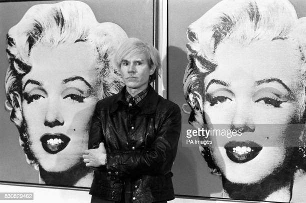 Died on this day American Pop artist and film maker Andy Warhol America's popart painter and filmmaker Andy Warhol stands in front of his double...