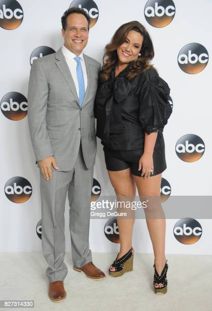 Diedrich Bader and Katy Mixon arrive at the 2017 Summer TCA Tour Disney ABC Television Group at The Beverly Hilton Hotel on August 6 2017 in Beverly...