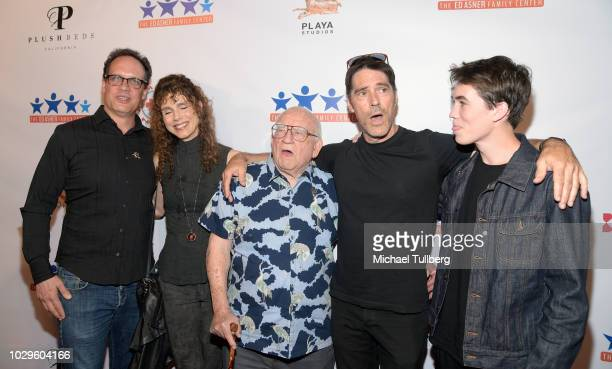 Diedrich Bader Dulcy Rogers Ed Asner Thomas Gibson and Travis Carter Gibson attend the 6th Annual Ed Asner and Friends Poker Tournament Celebrity...