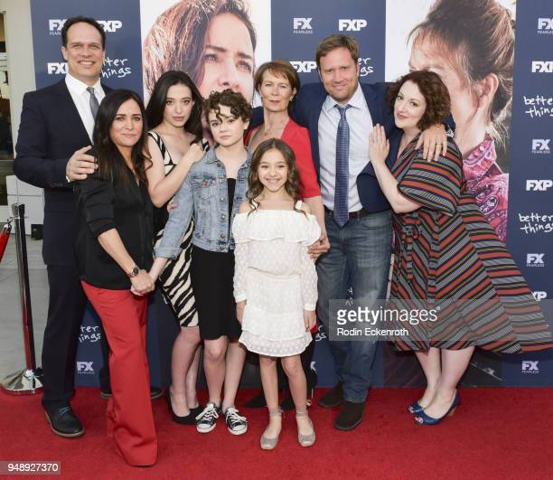 Diedrich Bader Pamela Adlon Mikey Madison Hannah Alligood Olivia Edward Celia Imrie Greg Cromer and Rebecca Metz attend the FYC event for FX's...