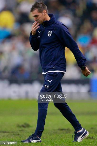 Diego Alonso Coach of Monterrey during the fourth round match between Club America and Monterrey as part of the Torneo Apertura 2018 Liga MX at...