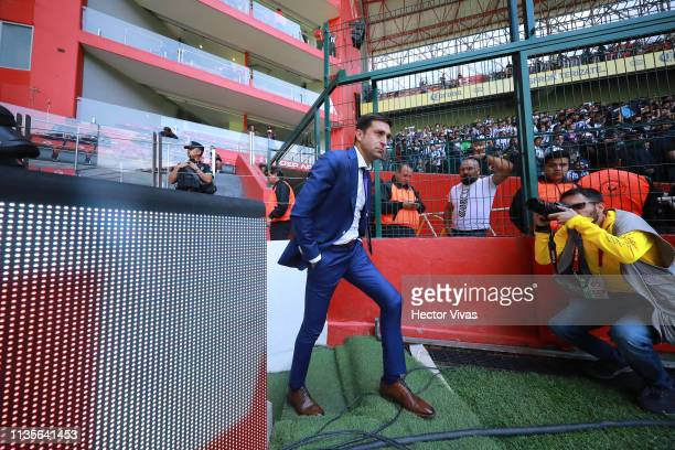 Diego Alonso coach of Monterrey enters to the field prior the 13th round match between Toluca and Monterrey as part of the Torneo Clausura 2019 Liga...