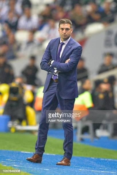 Diego Alonso coach of Monterrey looks on during the 13th round match between Monterrey and Toluca as part of the Torneo Apertura 2018 Liga MX at BBVA...