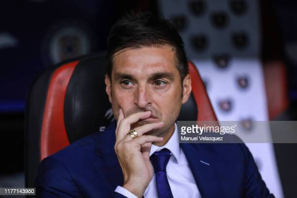 Diego Alonso coach of Monterrey looks on prior the 11th round match between Cruz Azul and Monterrey as part of the Torneo Apertura 2019 Liga MX at...