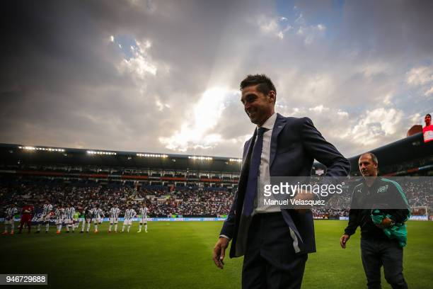 Diego Alonso head coach of Pachuca walks prior the 15th round match between Pachuca and Santos Laguna as part of the Torneo Clausura 2018 Liga MX at...