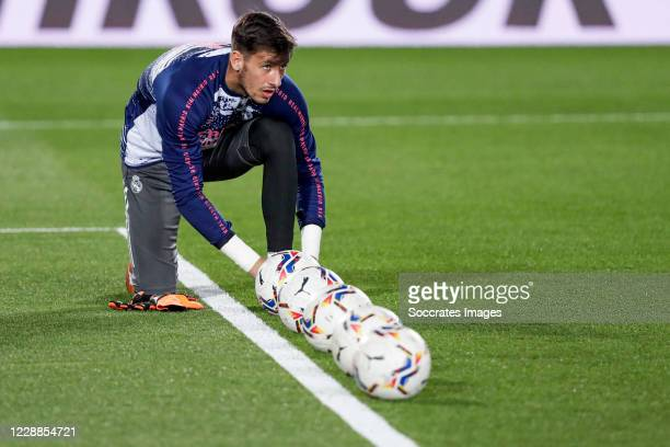 Diego Altube of Real Madrid during the La Liga Santander match between Real Madrid v Real Valladolid at the Alfredo di Stefano Stadium on September...