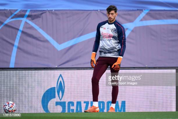 Diego Altube of Real Madrid looks on prior the game during the UEFA Champions League Group B stage match between Real Madrid and Shakhtar Donetsk at...