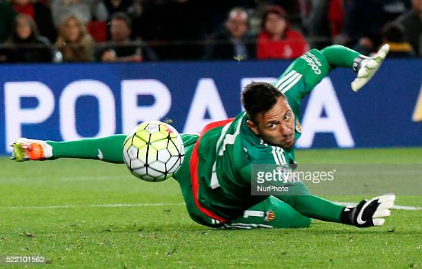 Diego Alves during the match between FC Barcelona and Valencia CF corresponding to the week 33 of the spanish league Liga BBVA played at the Camp Nou...