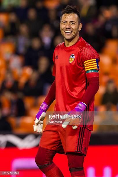 01 Diego Alves of Valencia CF during the Spanish La Liga Santander soccer match between Valencia CF vs Malaga CF at Mestalla Stadium on December 4...