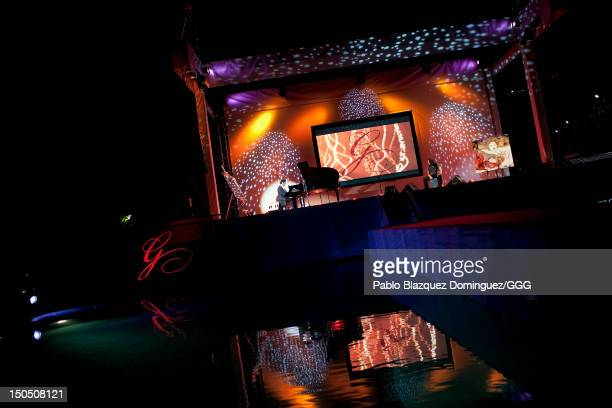 Diego Amador performs live on stage during the Global Gift Gala held to raise benefits for Cesare Scariolo Foundation and Eva Longoria Foundation on...