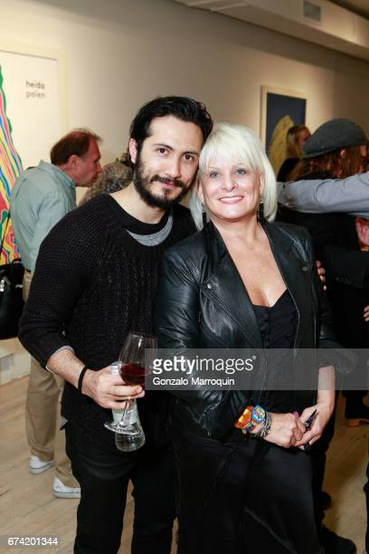 Diego Anaya and Christine Carrier attend the Swiss Wine Valais Loves New York hosted by Gregory de la Haba Billy The Artist Anthony HadenGuest and...