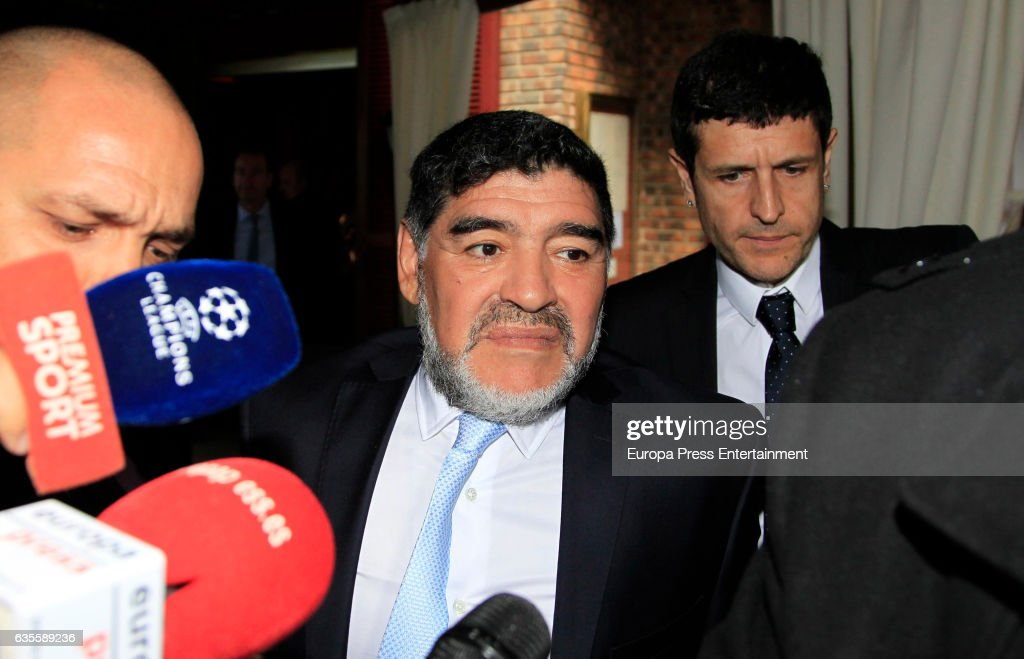 Maradona Sighting in Madrid - February 15, 2017 : News Photo