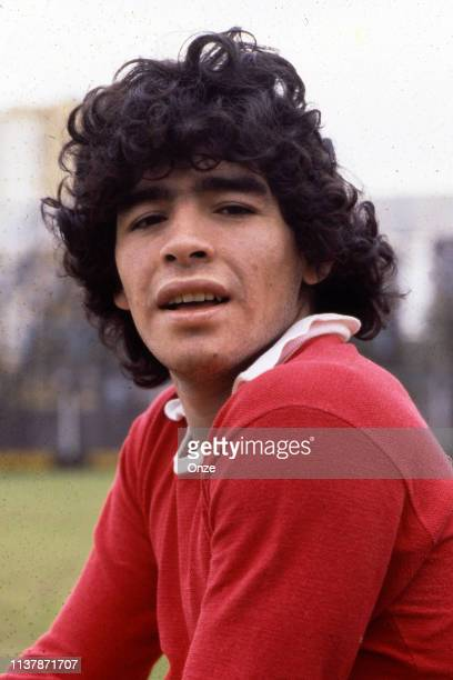 Diego Armando Maradona of Argentinos Juniors during a photoshoot with the club Argentinos Juniors, at Buenos Aires, Argentina on October 11th 1978