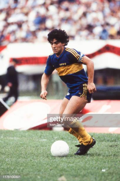 Diego Armando MARADONA of Boca Juniors during the Primera Division match between River Plate and Boca Juniors at Estadio Monumental Buenos Aires...
