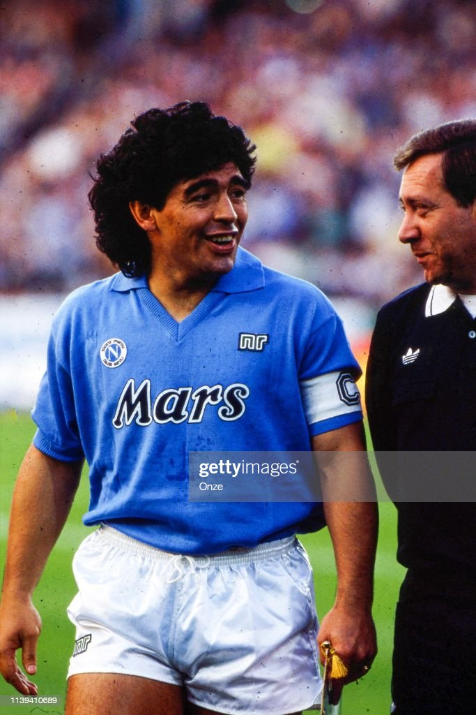 Diego Armando Maradona Of Napoli During The Uefa Cup Final Second Leg News Photo Getty Images
