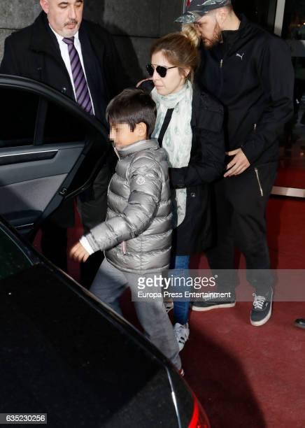 Diego Armando Maradona's daughter Dalma Maradona and his grandson Benjamin Aguero Maradona are seen on February 13 2017 in Madrid Spain All of them...