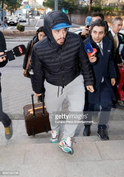 Diego Armando Maradona's son Diego Sinagra is seen on February 13 2017 in Madrid Spain Diego Armando Maradona's family are in Madrid to attend...