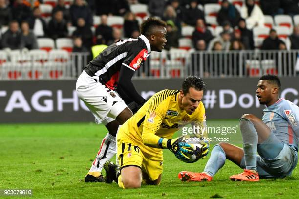 Diego Benaglio of Monaco during the League Cup match between Nice and Monaco at Allianz Riviera Stadium on January 9 2018 in Nice France