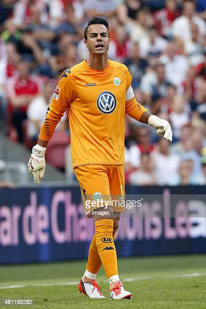 Diego Benaglio of VFL Wolfsburg during the preseason friendly match between Ajax Amsterdam and VfL Wolfsburg on July 17 2015 at the Amsterdam Arena...