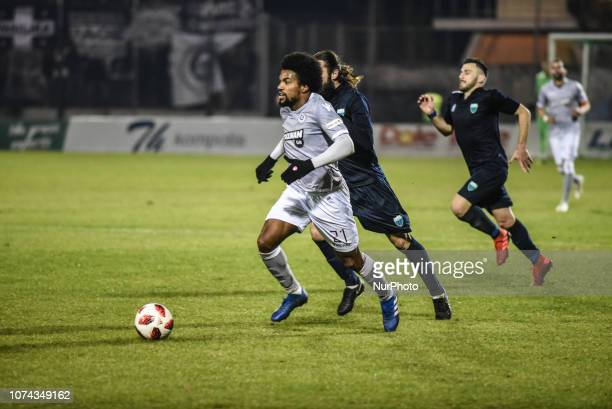 Diego Biseswar of PAOK in action during Greece Super League Football match between APO Levadeiakos and PAOK Thessaloniki in Levadia Municipal Stadium...