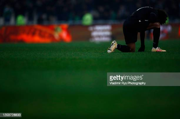 Diego Biseswar of PAOK looks dejected after the final whistle of the Greece SuperLeague match between Panathinaikos FC and P.A.O.K. At OAKA Stadium...