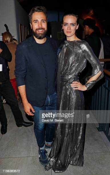 "Diego Bivero-Volpe and Charlotte Carroll attend the press night performance of ""We Must Throw The Cows Down The Ravine"" at The Cervantes Theatre on..."