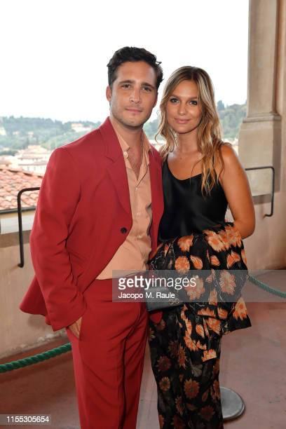 Diego Boneta and Mayte Rodriguez attend the Salvatore Ferragamo Private Dinner at Palazzo Vecchio during Pitti Immagine Uomo 96 on June 11, 2019 in...