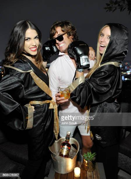 Diego Boneta and The Chivas Fight Club attend Diego Boneta's David Bernon's Halloween at the Hedges by Chivas Regal on October 30 2017 in West...